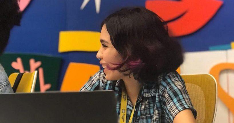 Girl Woking on computer
